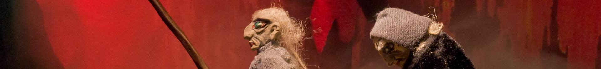 Szene aus Doctor Fausts Höllenfahrt - Copyright Lingener Marionettentheater