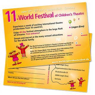 Ballonflugkarte 11. Welt-Kindertheater-Fest 2010 - Copyright Stadt Lingen