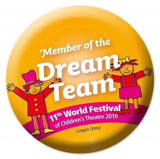 Button 11. Welt-Kindertheater-Fest 2010 - Copyright Stadt Lingen