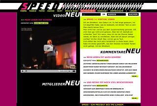 """Entwurf Homepage Musiktheaterstück """"Speed - das Usical"""" - Copyright TPZ Lingen"""