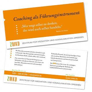 Flyer ZMKD - Coachingkompetenz - Copyright welt-gestalten.de