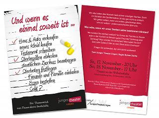"""Flyer """"Und wenn es einmal soweit ist ..."""" - Copyright welt-gestalten.de"""