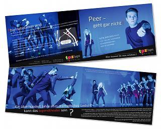 """Folder Theaterstück """"Peer Gynt - geht gar nicht!"""" - Copyright welt-gestalten.de"""