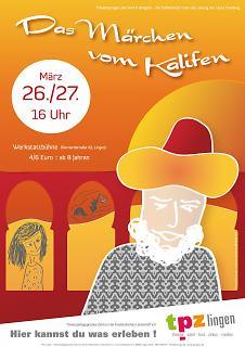 """Plakat """"Das Märchen vom Kalifen"""" - Copyright welt-gestalten.de"""