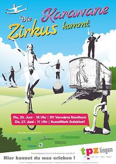 Plakat Die Zirkuskarawane kommt - Grafschaft - Copyright welt-gestalten.de