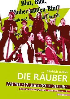 "Plakat Theaterstück ""Die Räuber"" - Copyright welt-gestalten.de"