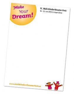 Schreibblock 11. Welt-Kindertheater-Fest 2010 - Copyright Stadt Lingen