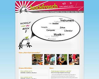 Screenshot bockfrosch-kultur.de  - Copyright welt-gestalten.de