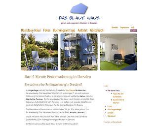 Screenshot www.dresden-blaues-haus.de - Copyright welt-gestalten.de