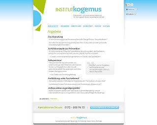 Screenshot institut-kogemus.de - Copyright welt-gestalten.de