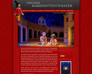 Screenshot marionettentheater-lingen.de - Copyright www.welt-gestalten.de