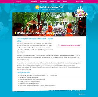 Screenshot weltkindertheaterfest.de - Copyright welt-gestalten.de
