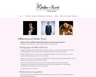 Screenshot www.kleider-kunst.de - Copyright welt-gestalten.de