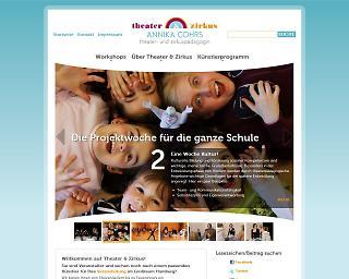 Screenshot www.theater-und-zirkus.de - Copyright welt-gestalten.de