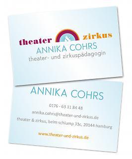 Visitenkarte Theater & Zirkus - Copyright welt-gestalten.de