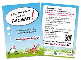 Flyer Homepage www.bockfrosch-kultur.de - Copyright welt-gestalten.de