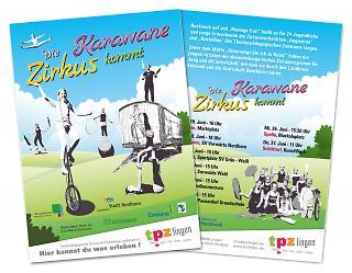 Flyer Die Zirkuskarawane kommt - Copyright welt-gestalten.de