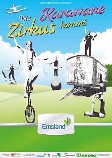 Plakat Die Zirkuskarawane kommt - Emsland - Copyright welt-gestalten.de