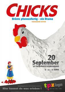 """Plakat Theaterstück """"Chicks"""" - Copyright welt-gestalten.de"""