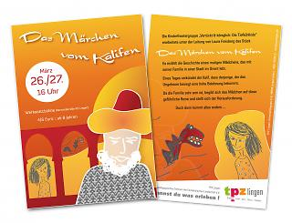 """Flyer """"Das Märchen vom Kalifen"""" - Copyright welt-gestalten.de"""