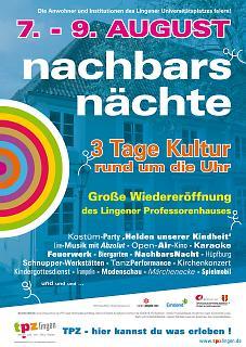 Plakat Wiedereröffnung Professorenhaus Lingen