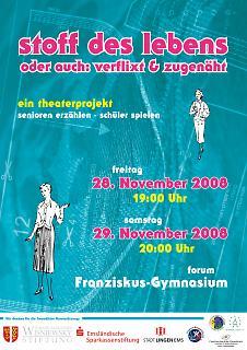 "Plakat Theaterstück ""Stoff des Lebens"" - Copyright welt-gestalten.de"